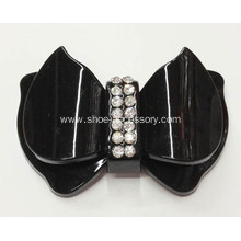 Butterfly Design Shoes Accessories, Acrylic Rhinestone Buckle