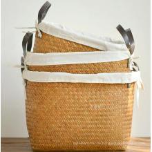 (BC-ST1075) Gute Qualität reine manuelle natürliche Stroh Wäschekorb