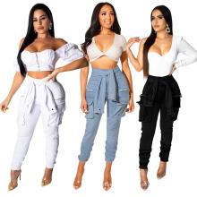 Amazon women's fashion blockbuster sexy nightclub sleeve lace fashion buttons washed jeans
