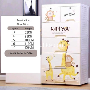 Storage Cabinet Drawers Organizer untuk Playroom