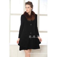 prix d'usine de luxe et slim fit femmes 100% pur cachemire longs manteaux