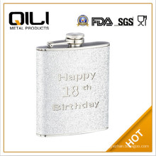 8oz Europe flag stainless steel Flask erlenmeyer flask