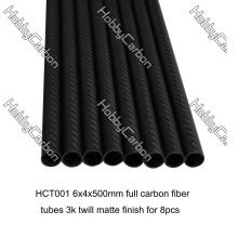 Juntas de tubo de fibra de carbono real de 3K