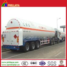 Flüssiger Gastransporter-Tanker-halb Anhänger / Sauerstoff-Anhänger / Wasserstoff-Anhänger