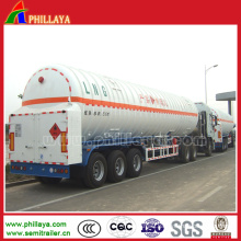 Liquid Gas Transporter Tanker Semi Trailer/Oxygen Trailer/Hydrogen Trailer