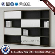Aluminum Glass Doors Office Bookcase Modern Melamine Office Furniture (HX-6M273)