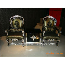 Armrest wooden chair and table sets XYD113