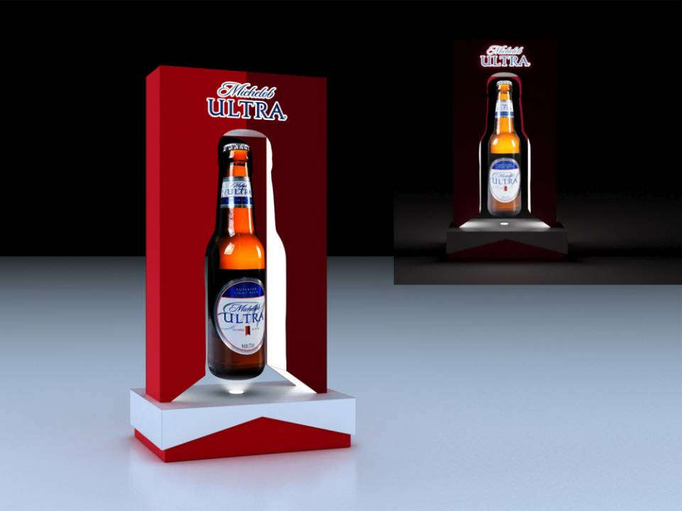 Michelob floating display