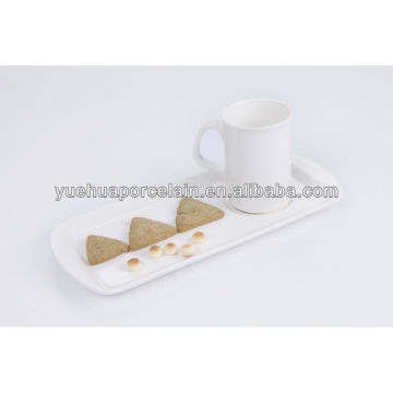 mug and rectangle tray crockery breakfast set