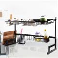 Stainless Steel 2 Ties Storage Holders Racks Kitchen Accessories Drying Storage Rack Over Sink