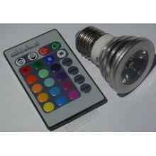 Haute qualité AC100-240v rgb projecteur conduit avec télécommande 3w spotlight led rgb