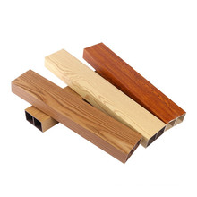 China manufacturer new colors luxury WPC Timber Tubes /colorful Timber Tubes 50x25mm on sale