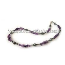 Collier à perles à l'hématite magnétique