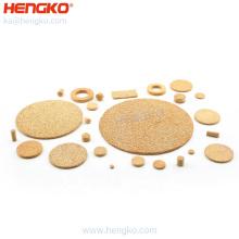 HENGKO high quality brass sintered porous disc filter sintered bronze filter disc