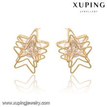 92588-Xuping Mode moderne Nobby chevauchant des boucles d'oreilles Star pour la vente en gros