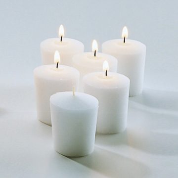Paraffinvax Mini Unscented Pillar Votive Candles