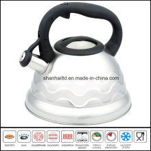 Nylon Handle Flower Pattern Induction Whistle Kettle Cookware