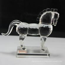 Wholesale estatuetas de cavalo de cristal para presentes