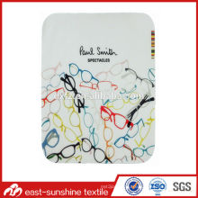Microfiber Two Side Flannel Lens Cleaning Cloth, Eyeglasses Cleaning Cloth, Decorated Microfiber Cleaning Cloth