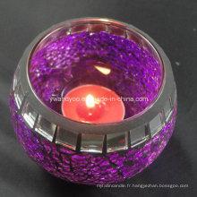 Bougeoir décoratif en verre mosaïque