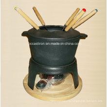 Предварительно приготовленное чугунное фондю для сыра и шоколада с сертификатом LFGB