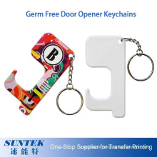 Sublimation Portable Germ Free Keychain Touchless Door Opener