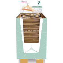 Set of 5pcs promotional wooden hangers for shirt