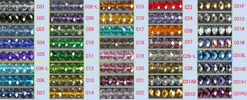 Hot 2013 new style wholesale roundel crystal beads in bulk for jewelry findings from China Crystal manufactory