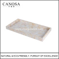 Bathroom Accessory River Shell Amenity Tray for Hotels