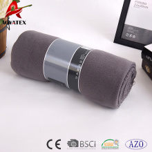 China promotion polyester solid color polar fleece blanket