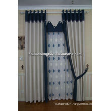 Beautiful embroidery new hemp fabric curtain
