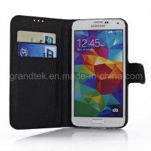 Кожаный чехол для Samsung Галактики S5 i9600 кожаный телефона аксессуары