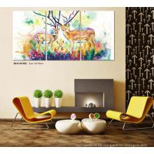 Arte de la pared del hotel de la decoración casera Pintura moderna de la lona de DIY