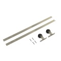 Satin Nickel plated barn door kits hardware