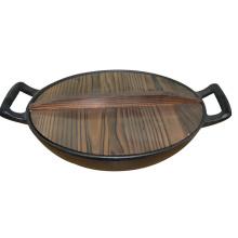 Gusseisen-Wok mit Pflanzenöl-Beschichtung