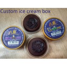 Taza desechable de helado de plástico personalizada (taza de PP)