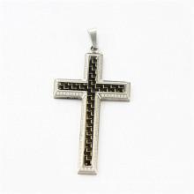 2015 diamond carbon fiber cross pendant