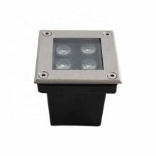 Luz de paso LED cuadrada IP67 de 4W empotrada en la pared