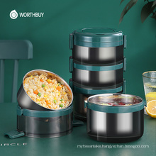 Japanese Leak-Proof Lunch Box 18/8 Stainless Steel Bento Box For Kids School Thermal Food Container Kitchen Food Box