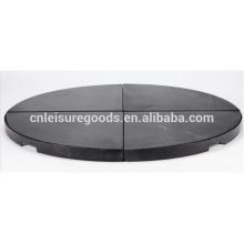 Patio umbrella holder black granit stone