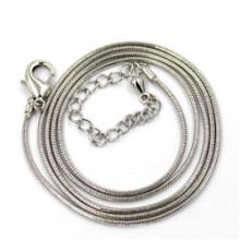 1.2mm Серебряная цепь змейки цепи ожерелья 50 + 5cm
