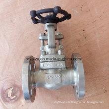API602 150lb Soupape de fermeture à bride F316L en acier inoxydable forgé