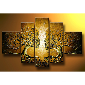 Hand-Painted Canvas Modern Home Decoration Painting (LA5-050)