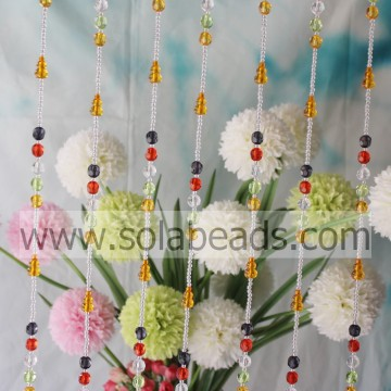 Gordijn Trim 4MM & 12MM & 20MM Draad Crystal Acrylic Bead strengen Garland