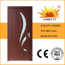 Проектированный используется МДФ межкомнатные двери ПВХ со стеклом (СК-P169)