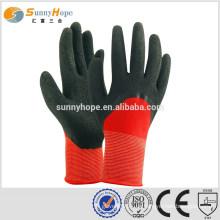 Sunnyhope Nylon Gummi rote Arbeitshandschuhe mit 13Gauge
