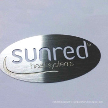 Oval Shape High Quality Low Price Embossed Letter Brass Aluminium Brand Metal Name Plate Label For Industry Product