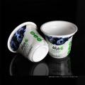 Чашки PP 6oz изготовленные на заказ устранимые белые пластичные герметичные для югурта