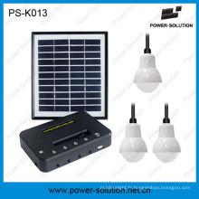Qualifié 4W panneau solaire 3PCS 1W SMD LED ampoules Kit solaire éclairage à la maison avec le téléphone de charge (PS-K013)