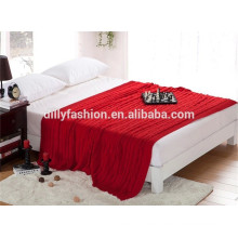 2015 high quality cashmere knitted bed throw blanket